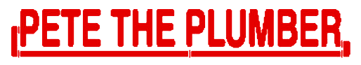 Pete the Plumber Mobile Logo